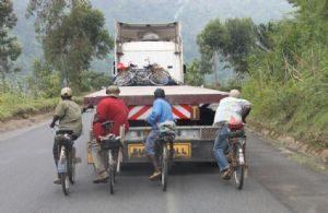Déplacement sur l'arrière d'un camion
